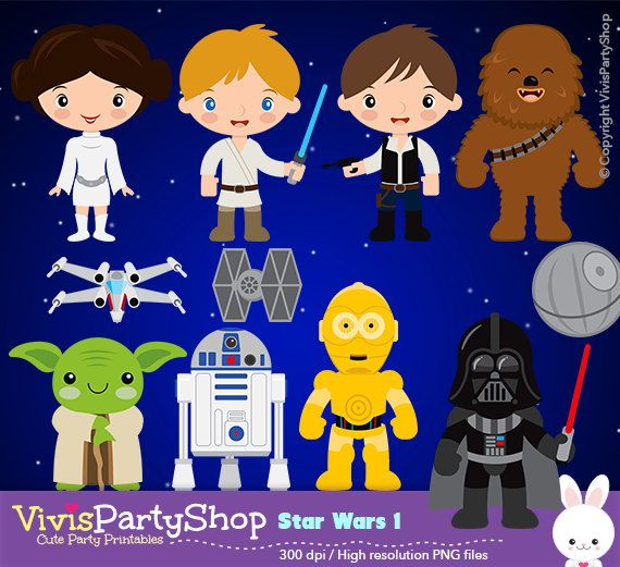 STAR WARS Clipart, Printable, Instant download, PNG files ...