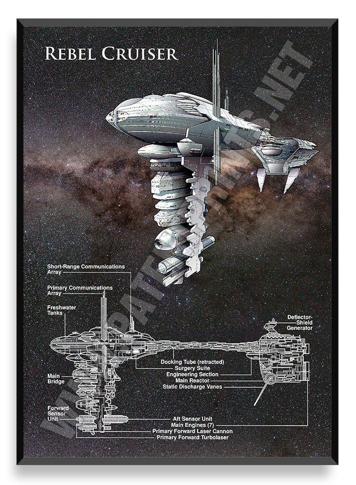 Rebel Cruiser, Star Wars Poster