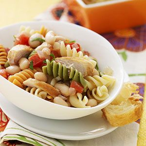 Healthy Pasta Dishes Kids Will Love: Rainbow Rotini (via Parents.com)