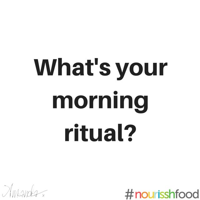 What's your morning ritual - food quote