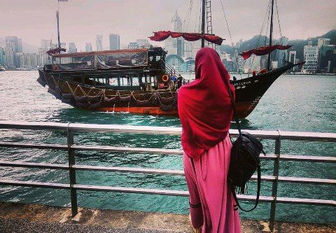 Hijab red color