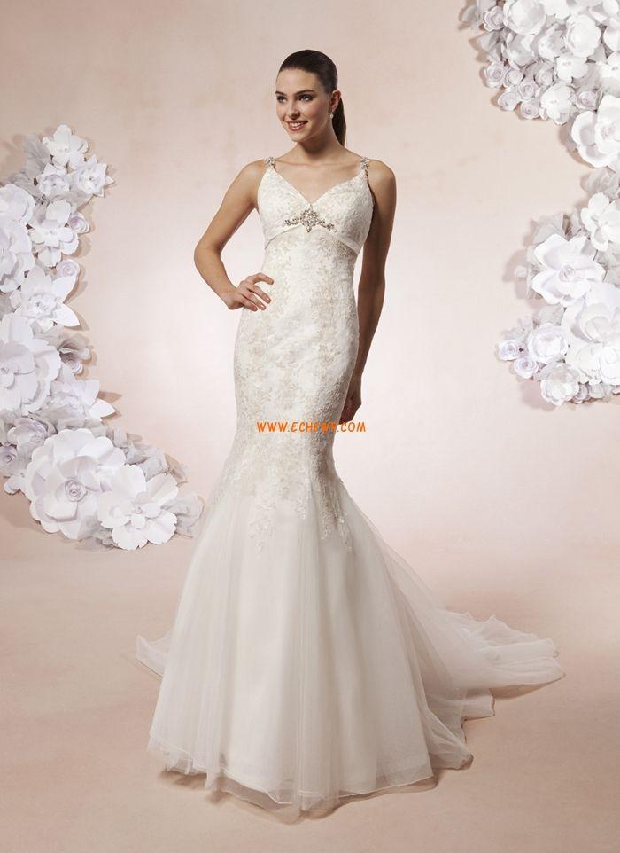 V-neck Tiul Lato Suknie ślubne 2012