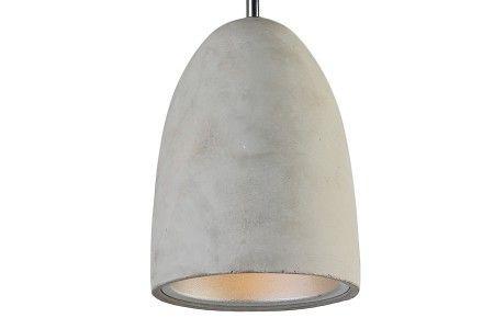 Hanglamp Hannover beton met reflector 14cm