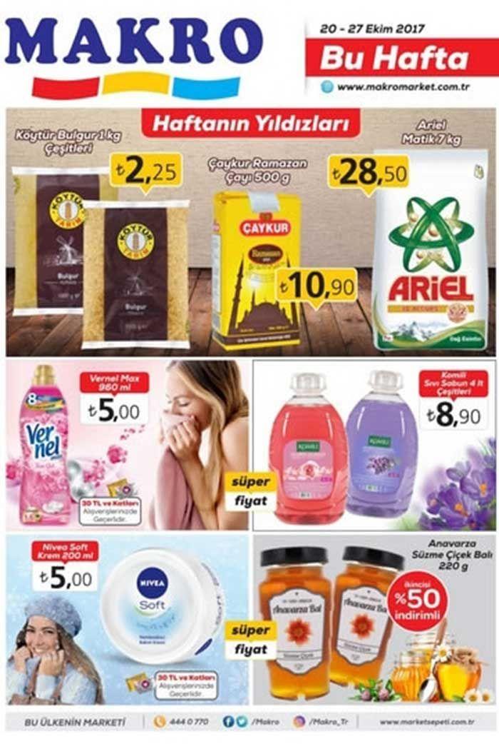 Makro market mağazalarında indirim günleri sürüyor. Makroda bu hafta20-27 Ekim 2017 tarihleri arasında geçerli olacak indirimli fiyatları aşağıdaki katalogda inceleyebilirsiniz.