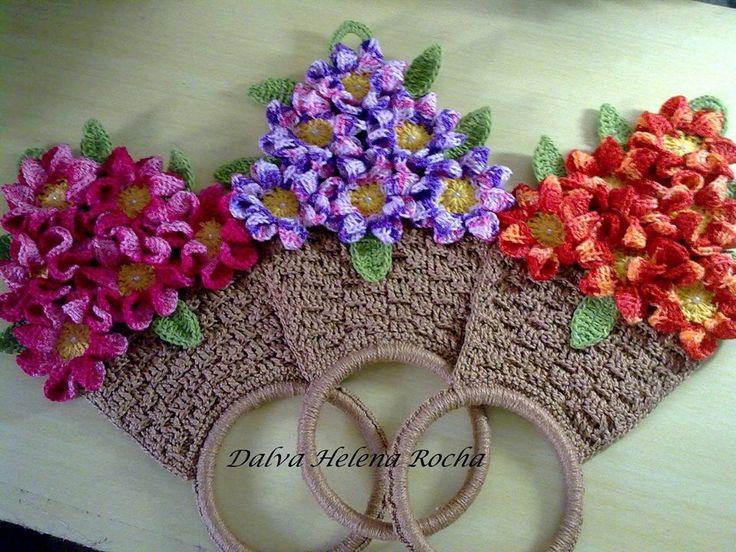 Luty Artes Crochet: Porta toalha ou pano de copa.