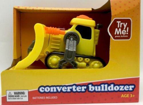 Bulldozer Robot Converter Toy Yellow Construction by Play Right New in package Bulldozer Item details Converter Bulldozer Condition: New With Tags Colors: Yellow Changes to a robot easy. New purchased for resale by Keywebco Video inspected during shipping Shipped fast and free from the USA The item for sale is pictured and described on this page. The stock photo may include additional items for display purpose only - which will not be included. Packages may show wear or be opened if the…