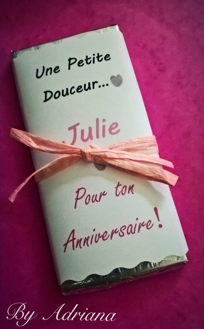 Cadeau original Anniversaire chocolat message. : Autres papeterie par by-adriana-boyard-ponce