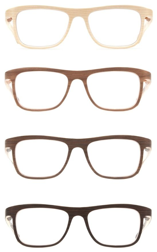 More Wooden glasses by Rolf Spectacles; Austria. Love the light ones.