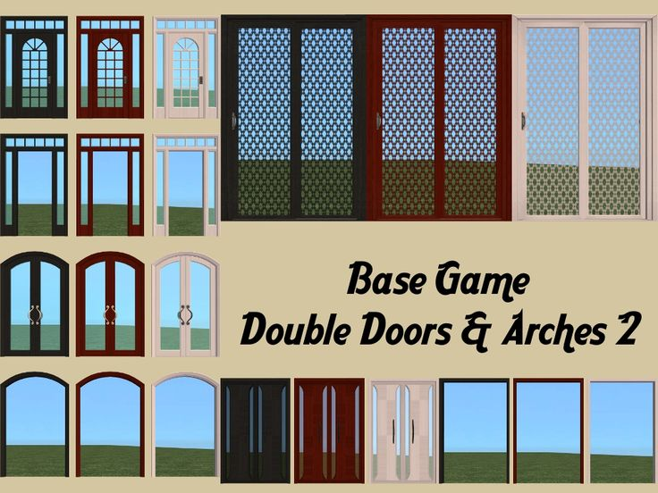 Mod The Sims - Base Game Double Doors - Part 2