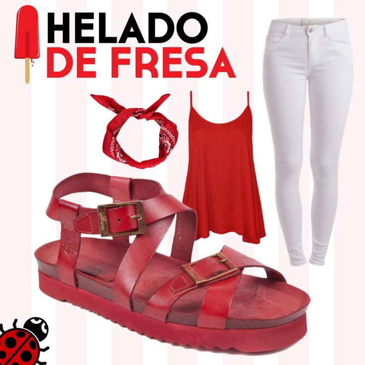 #Verano #LookVeraniego #Zapatos #Yokono #Moda #MadeInSpain #Ropa #Pantalones #Blanco #Rojo #Pañuelo #Camiseta