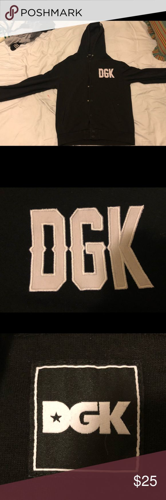 DGK Jacket Good condition. There are some signs of wear. Nice style jacket for anytime of cold seasons. Drawstrings not included DGK Shirts Sweatshirts & Hoodies