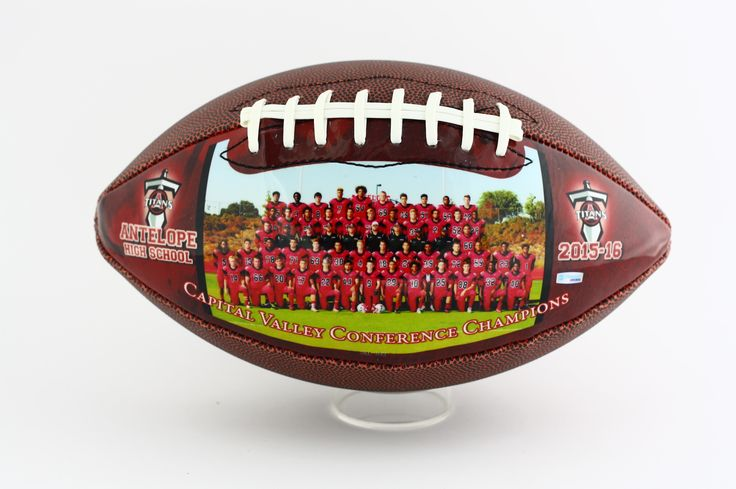 Show your team spirit by customizing your own unique football, perfect gift for football players, and coaches