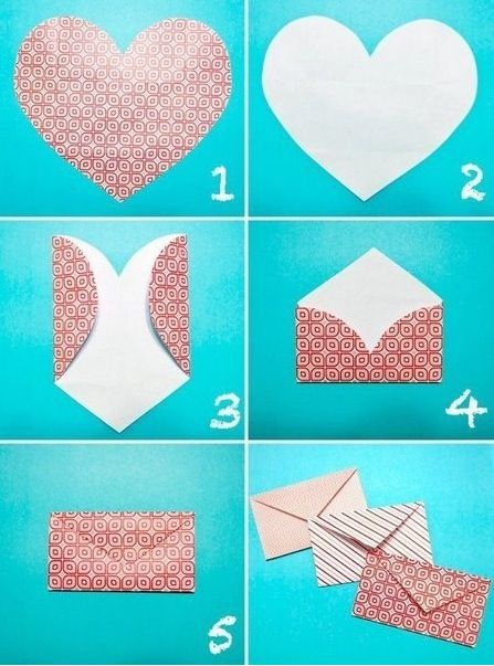DIY envelope out of wrapping paper, scrapbook paper, any kind, really! It looks so simple...I will definitely be doing this.
