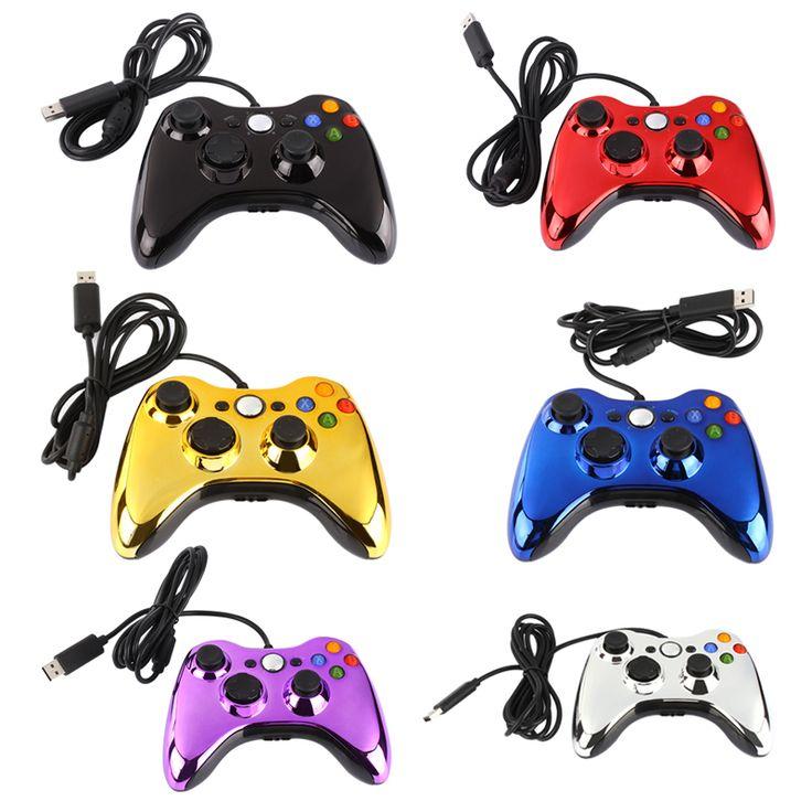 Đầy màu sắc usb wired game controller pc tablet joypad joystick đối với microsoft xbox 360