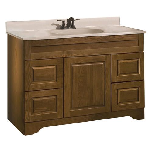Pace princeton series 48 x 21 vanity with - Menards bathroom vanities 48 inches ...