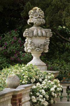 gorgeous concrete garden urn/statue