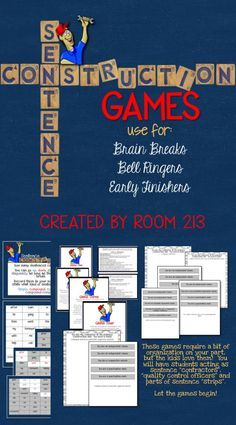 Help you students learn about simple, compound, complex and compound-complex sentences--and have fun!