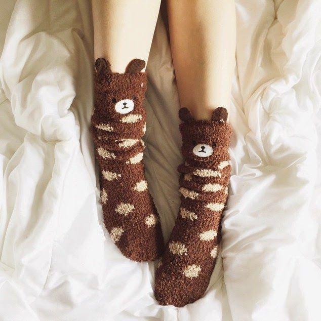 Blog Kamily Zor: Que frio!! > Meias fofas, porque sim!