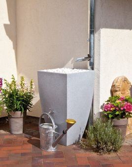 Simple Regentonne Regenwassertank L REWATEC Modena granit Bild