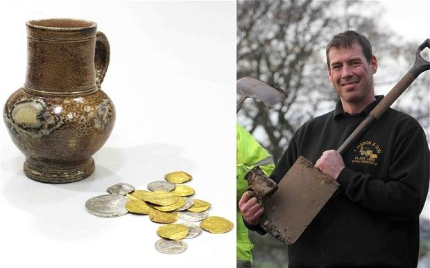 Builder discovers 16th Century gold on Lindisfarne