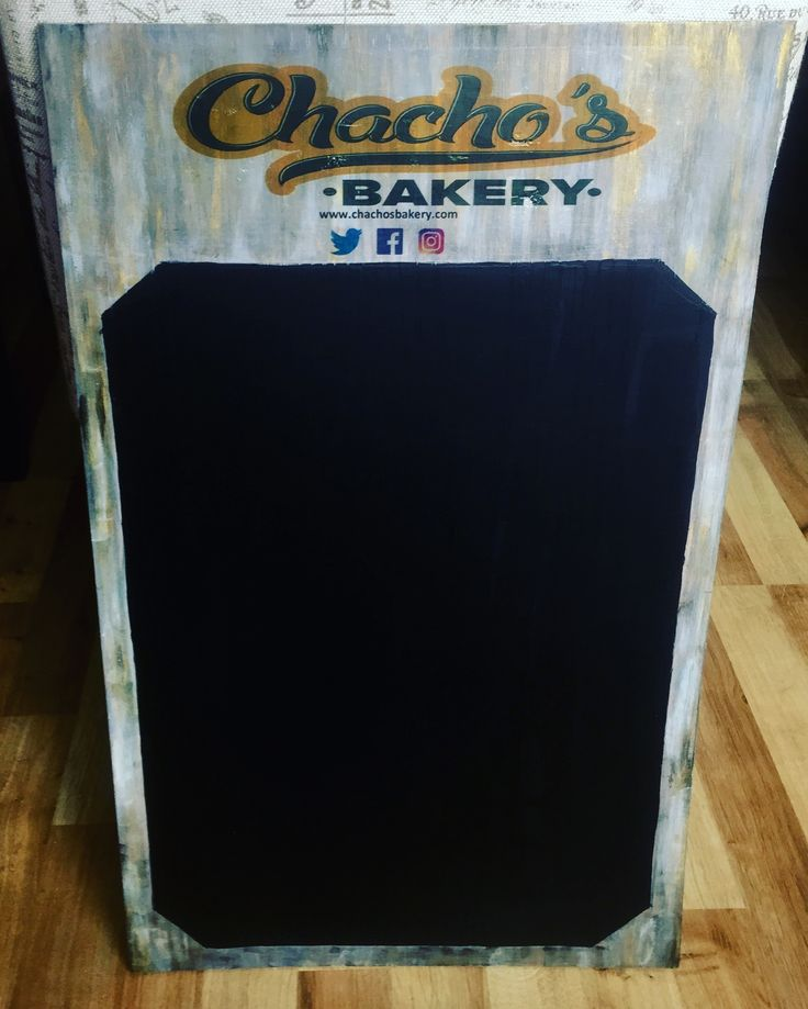 Menu wood design for Chachos Bakery...yummy sign