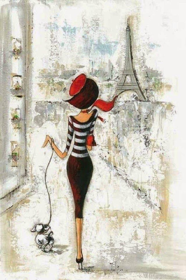 Картинка парижанка