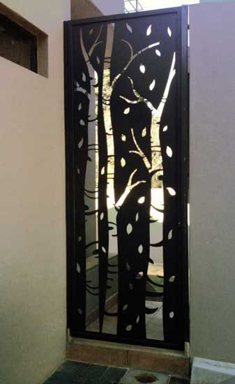 Birch tree design - security gate