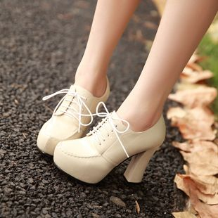Aliexpress.com : Buy Solid color thick heel high heeled shoes british style fashion lacing women's shoes princess shoes from Reliable women high heel shoe suppliers on cheng  kesi's store. $28.88