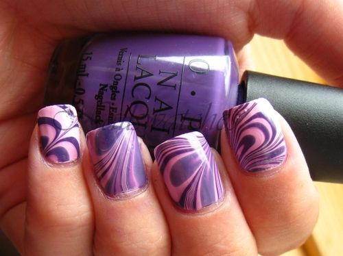 Water marble <3: Purple Water, Marble Nail Art, Nail Polish, Water Marble Nails, Purple Nails, Marbles, Purple Swirls, Marbled Nails