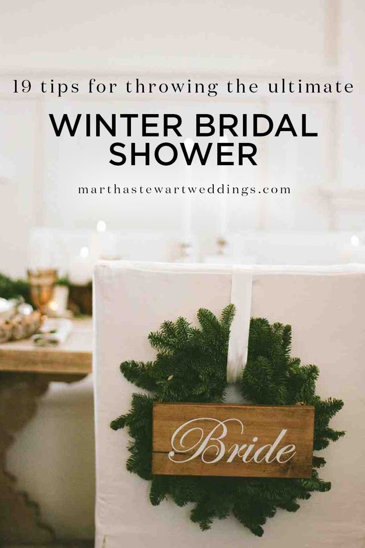 recipe themed bridal shower invitation wording%0A    Tips for Throwing the Ultimate Winter Bridal Shower   Martha Stewart  Weddings   u    Tis