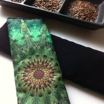 Approximately 20 percent of our energy is lost through the eyes. The gentle weight of the eye pillow allows the eyes to rest and helps ease tension from around the eyes and forehead both increasing and accelerating relaxation during savasana or meditation. The pillow is filled with unscented organic flax seed. Pillows may also be refrigerated to cool and refresh your eyes. From TheKarmaProject.Co on Storenvy.