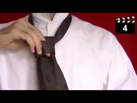 Krawatte richtig binden, einfacher Windsor Knoten - Krawattenknoten einfach - Tutorial - YouTube