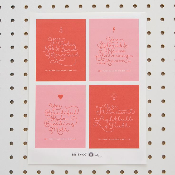 Galentine's Day Printables for the Ann Perkins/Leslie Knope in Your Life via Brit + Co.