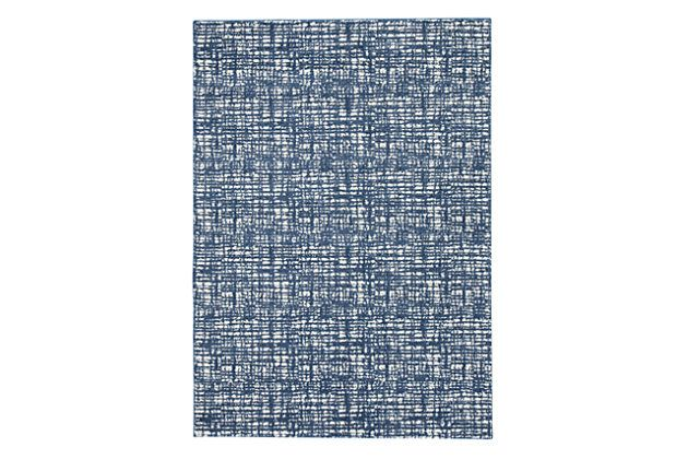 Norris Large Rug by Ashley HomeStore, Blue & White