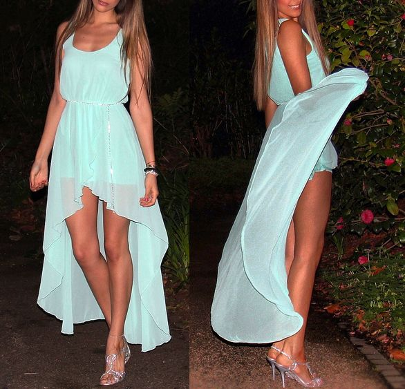 pretty: Fashion, Summer Dress, High Low Dresses, Style, Highlow, Clothes, Color, Closet
