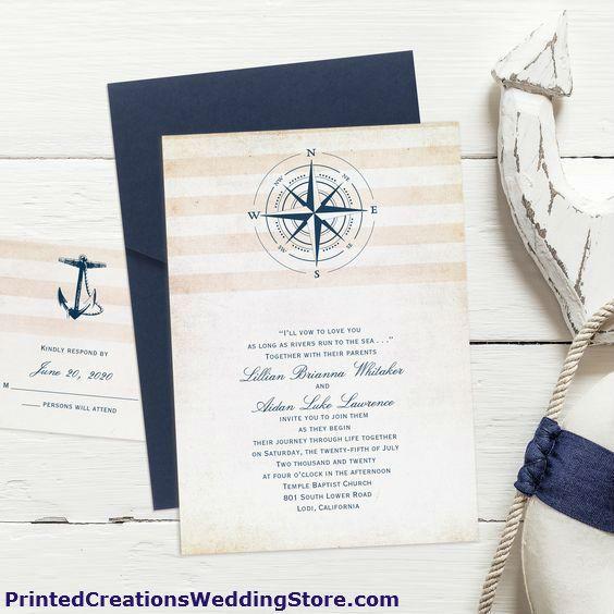 Best 25+ Nautical Wedding Invitations Ideas On Pinterest