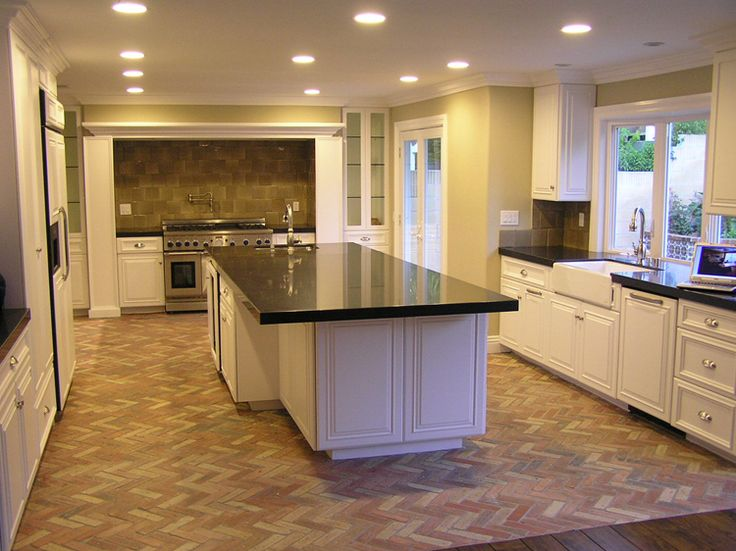 153 best kitchens now i 39 m serious images on pinterest for Brick veneer floor