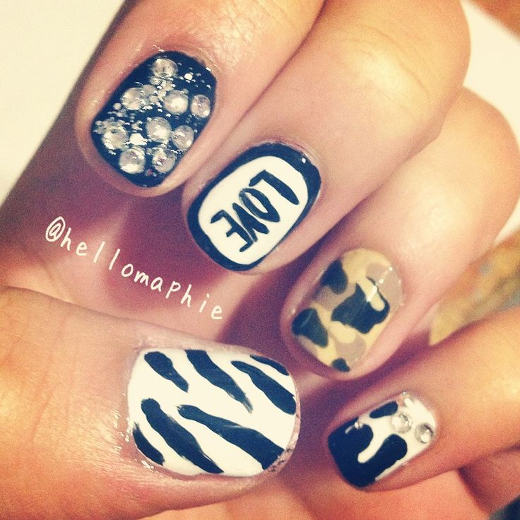 Nail Colors Youtube: Kylie Jenner Inspired Mix N Match Nails Www.youtube.com
