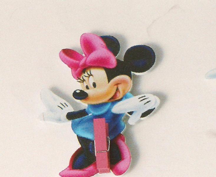 Μπομπονιέρα μανταλάκι Minnie 1,57 € για μπομπονιέρα βάπτισης ξύλινο για κορίτσι. Διασκεδαστικό παιχνίδι κατάλληλο για παιδικές μπομπονιέρες που θα διακοσμήσετε με κορδέλες και παιδικά κουφέτα σοκολάτας.