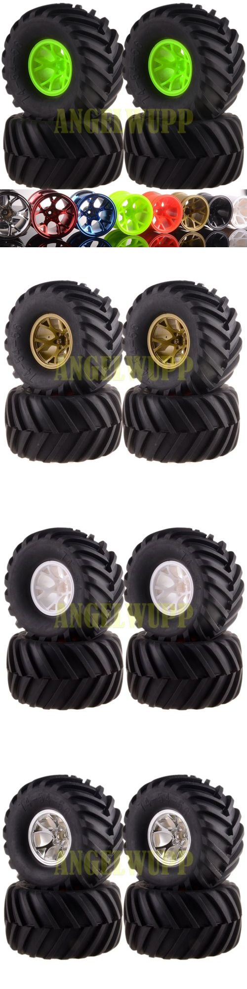 Radio Control 51029: Rc 1 10 Off Road Monster Truck Wheel Rimandtyre Tires 6009-3000 Hsp Hpi 8Colors -> BUY IT NOW ONLY: $35.91 on eBay!