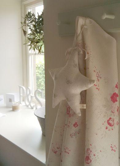 Fleur on cream linen. Peony & Sage fabrics