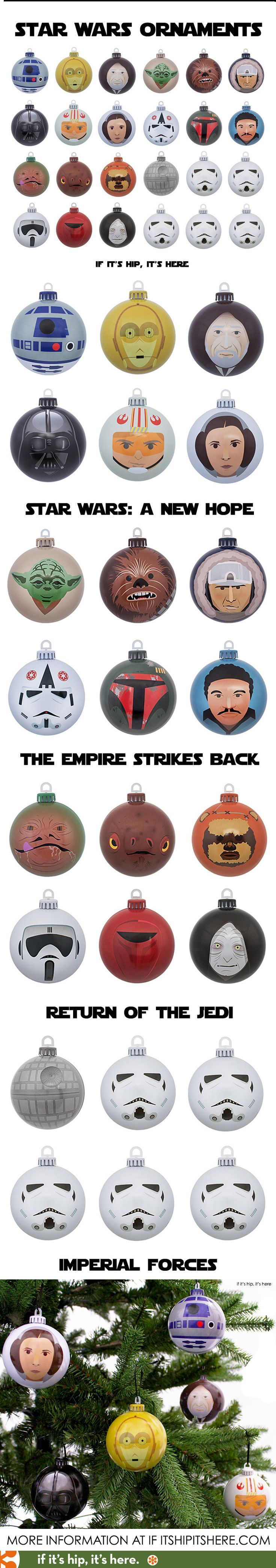 Finally! Star Wars Christmas ornaments with Design Appeal! #starwars...