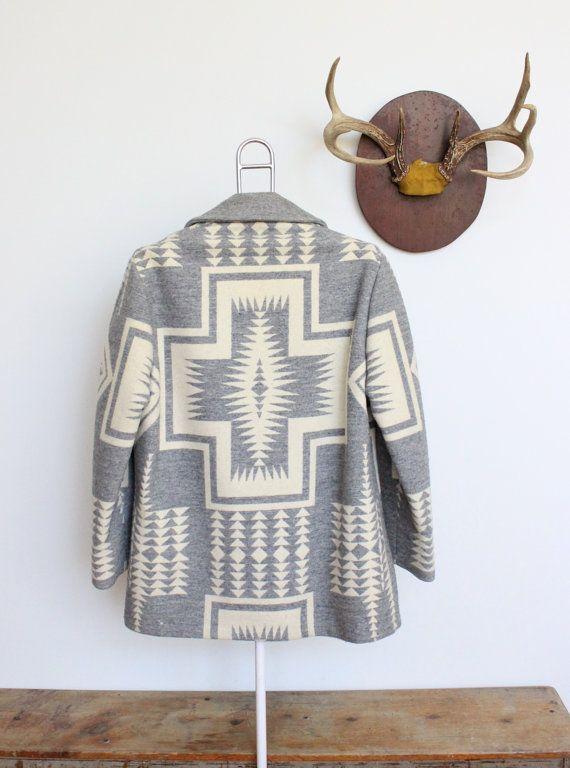 Vintage Pendleton Southwestern Blanket Coat by magnoliavintageco