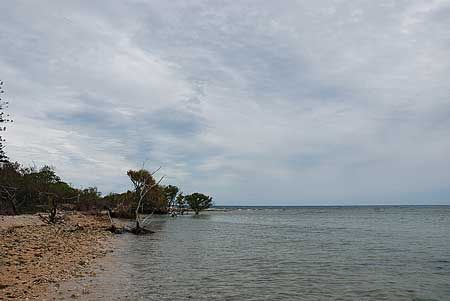 のんびり歩いても一周15分もかからない小さな島。浅瀬を無邪気に歩くのも気持ちいい。[2010/10 カナール島 lle aux Canards(ニューカレドニア New Caledonia)]© 2010 風旅記(M.M.) 風旅記以外への転載はできません...