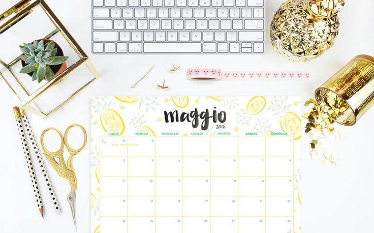 Calendario gratuito stampabile freebies printable | Sonia Grispo