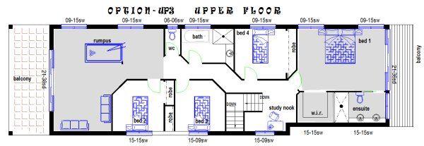 narrow lot 4 bed upper floor