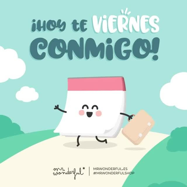 Y no nos separamos hasta el domingo 😁 #mrwonderfulshop #felizviernes Friday is my day! I won't let go of you till Sunday.