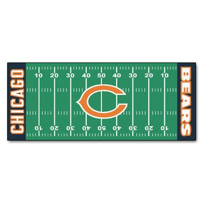 FANMATS NFL - Chicago Bears Football Field Runner