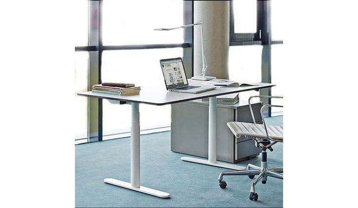 Ber ideen zu h henverstellbarer schreibtisch auf for Schreibtisch rund