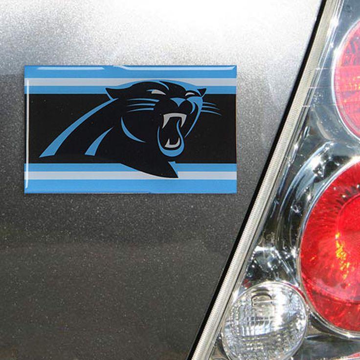 Carolina Panthers Rectangle Stripe Auto Emblem Domed Insert